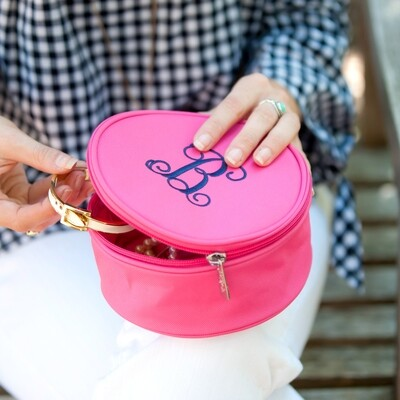 Hot Pink Jewelry Case