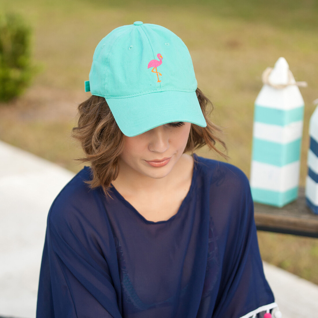 Flamingo Mint Cap