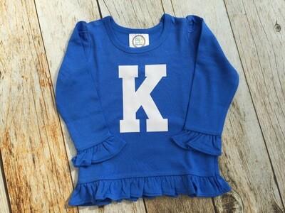 Girls Big K Long Sleeved Ruffle Shirt