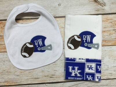 UK Football Bib & Burp Cloth