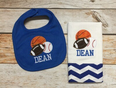 Sports Bib & Burp Cloth