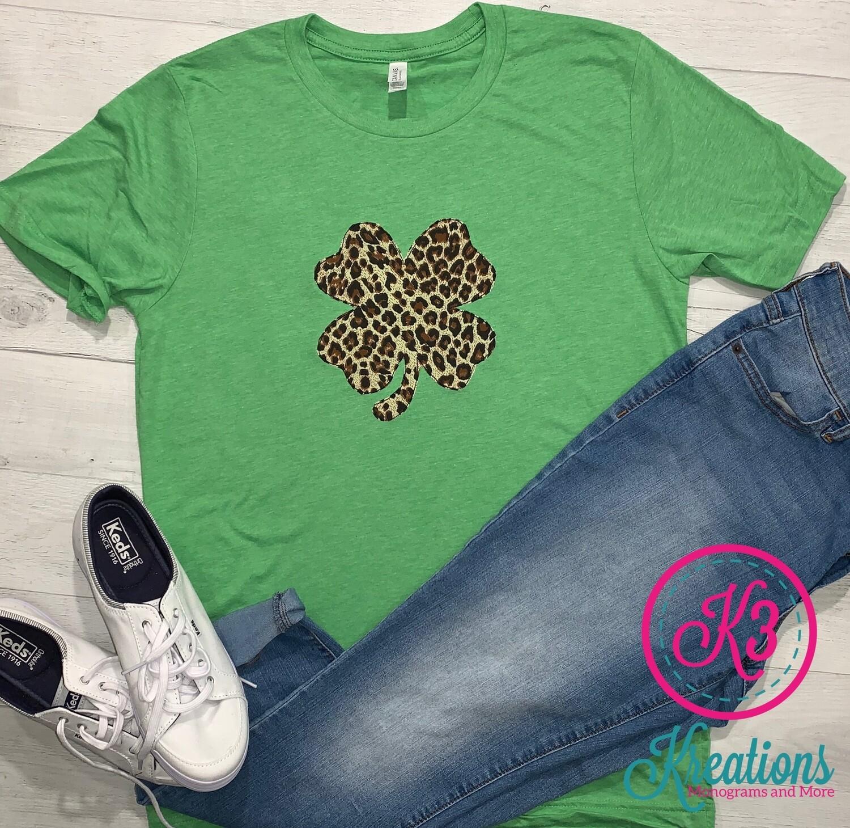 Leopard Shamrock Short Sleeve T-Shirt