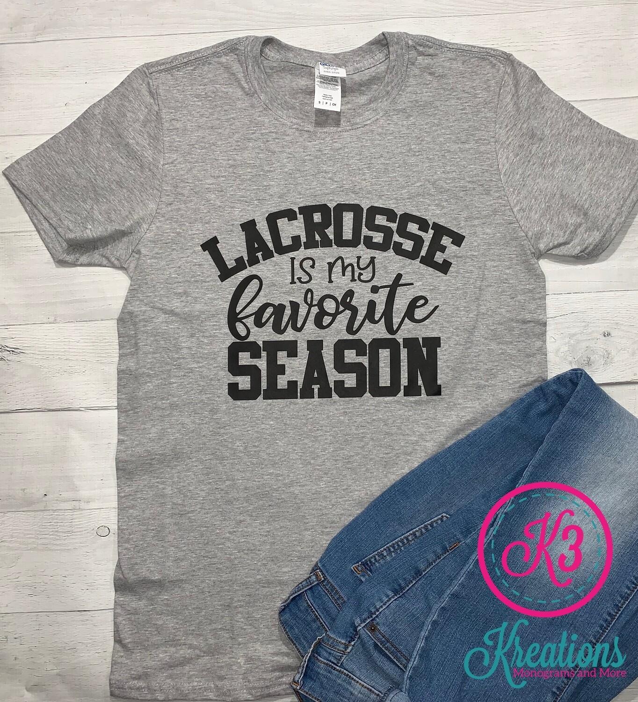 Adult Lacrosse is My Favorite Season Short Sleeve T-shirt