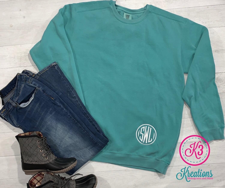 Monogrammed Comfort Color Crewneck Sweatshirt
