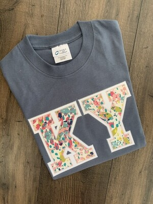 KY Bloom Short Sleeve Steel Blue Tee