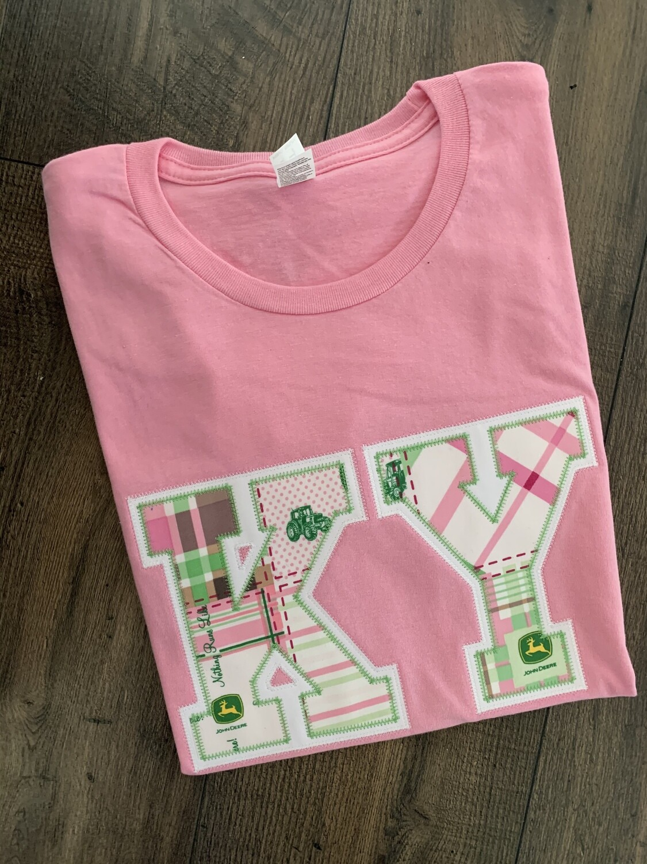 KY John Deere Candy Pink Short Sleeve Tee