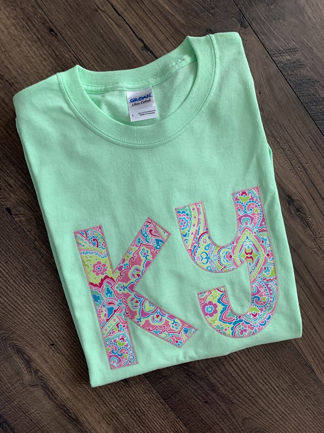 Ky Floral Paisley Lime Short Sleeve Tee