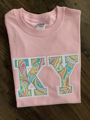 KY Pastel Paisley Light Pink Short Sleeve Tee