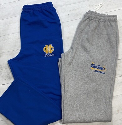 Open Bottom sweat pants with your choice of HC Logo