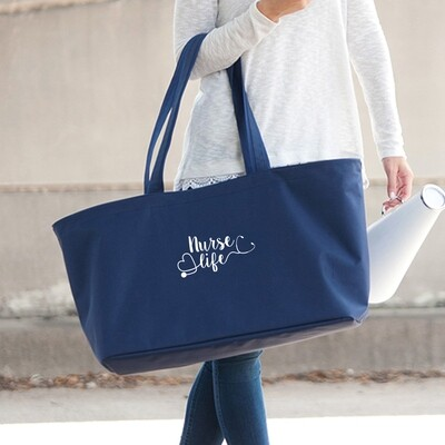 Nurse Life Navy Ultimate Tote