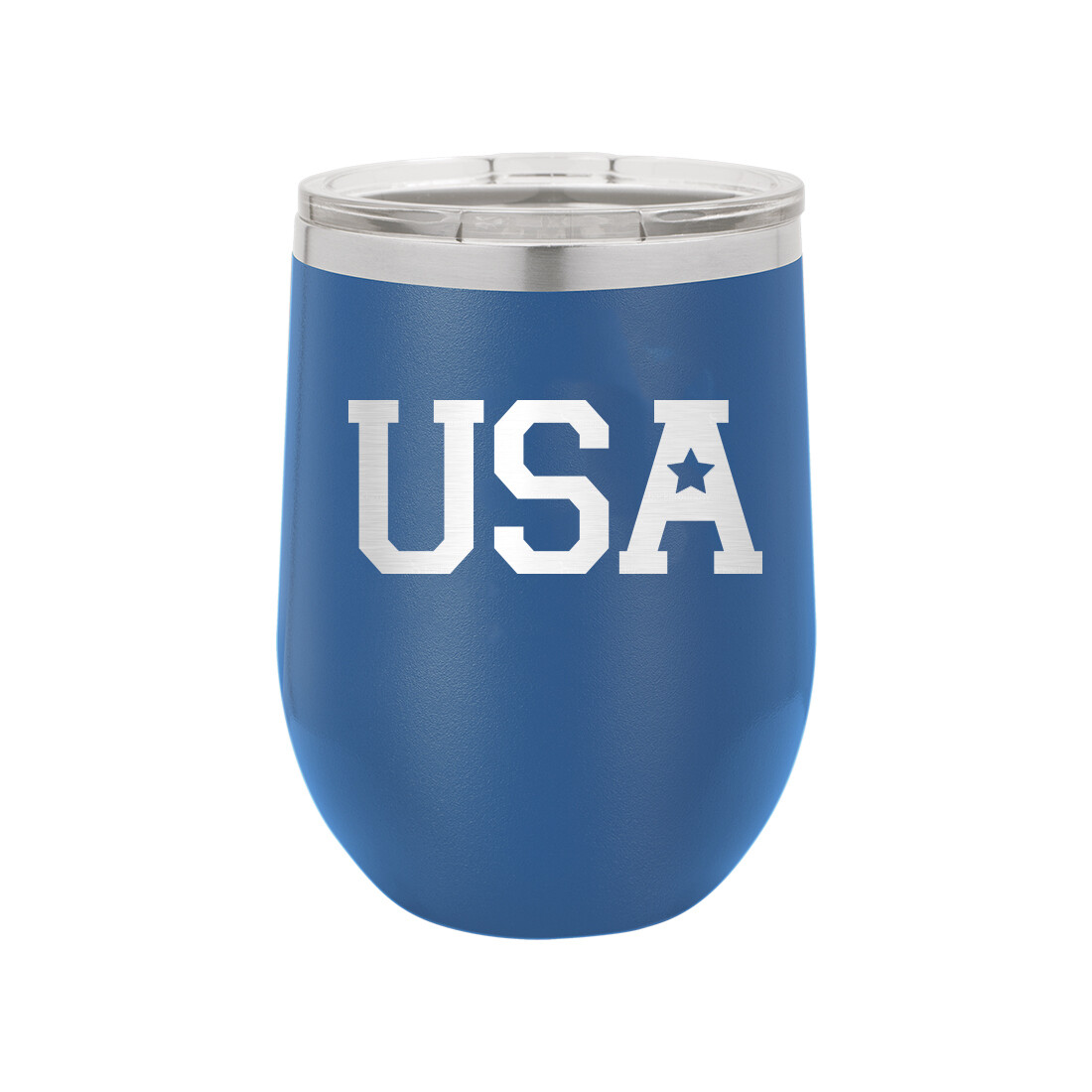 Royal Blue USA Tumbler