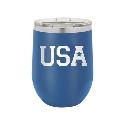 Royal Blue USA Tumbler
