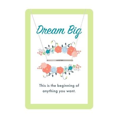 Silver Dream Big Bar Necklace Card