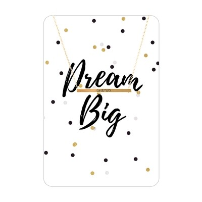 Gold Dream Big Bar Necklace Card