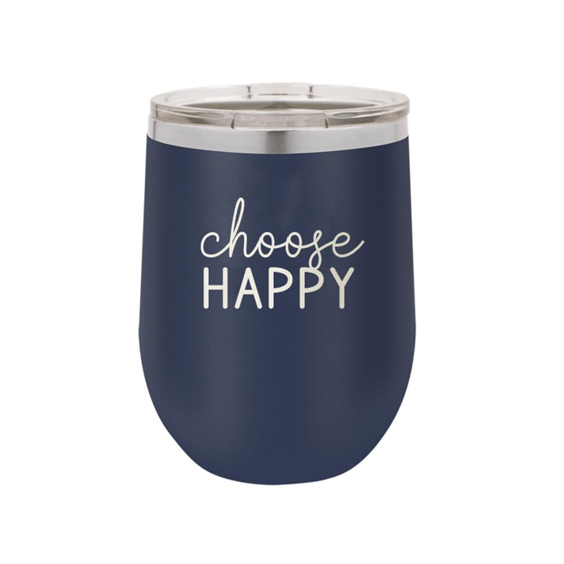 Navy Choose Happy Tumbler
