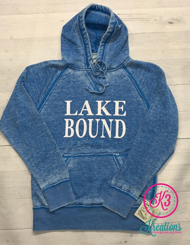 Adult Lake Bound Vintage Zen Fleece Hooded Sweatshirt