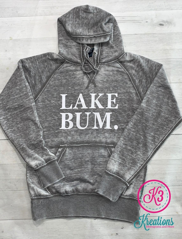 Adult Lake Bum Vintage Zen Fleece Hooded Sweatshirt