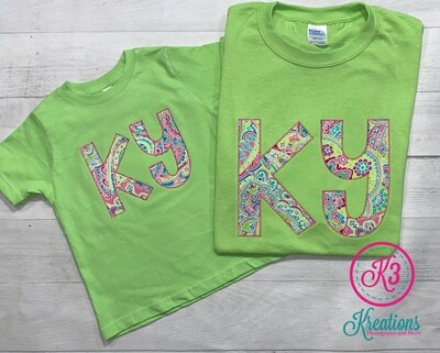 Mommy & Me Paisley KY Short Sleeve Tees