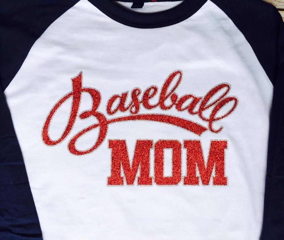 Adult Baseball Mom Raglan Jersey Tee