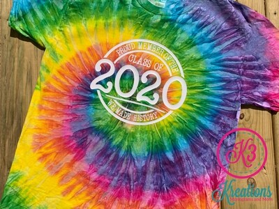 Proud Member of the Class of 2020 Tie-Dye Short Sleeve Tee