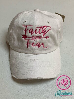 Faith Over Fear Distressed Cap