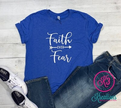 Adult Faith Over Fear Tri-Blend Short Sleeve Tee