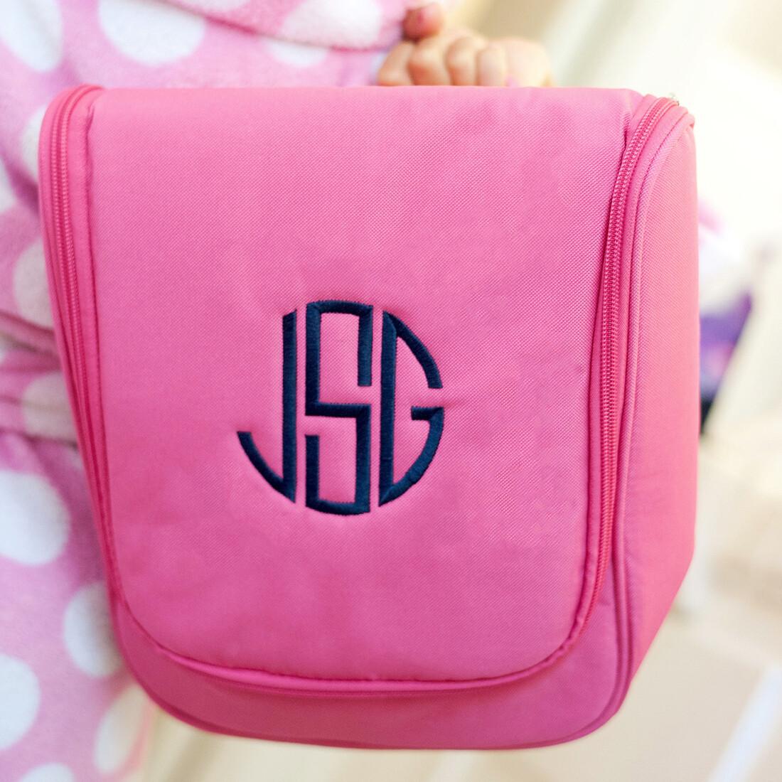 Hot Pink Hanging Travel Case