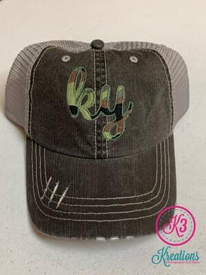 Camouflage Ky Trucker Cap