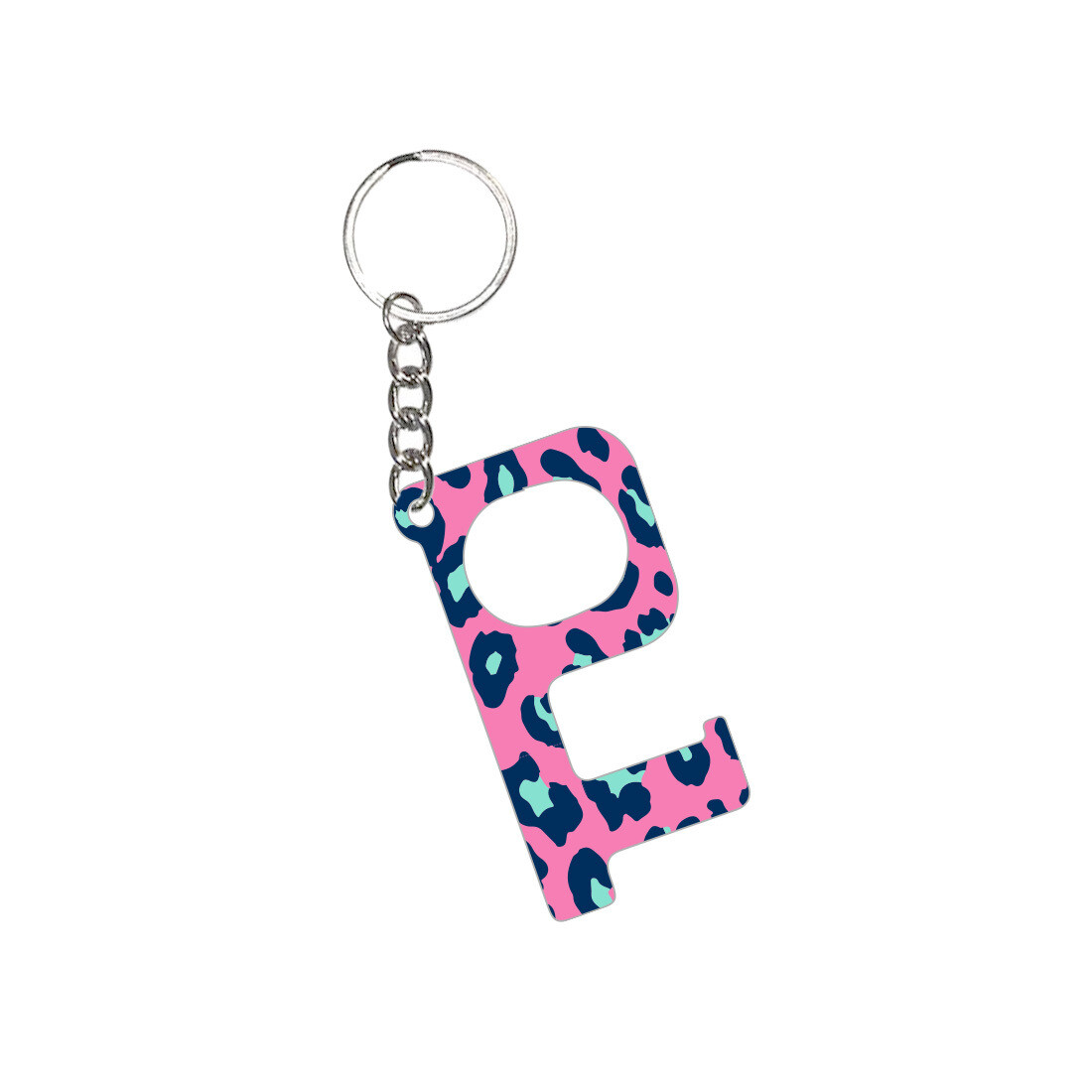 Hot Pink Leopard Hands-Free Keychain