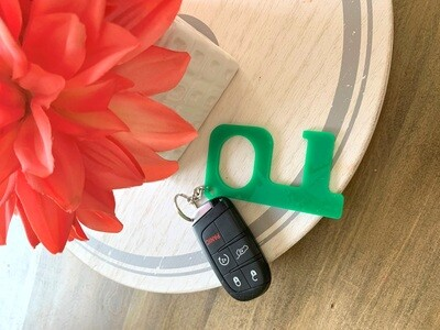 Green Hands-Free Keychain