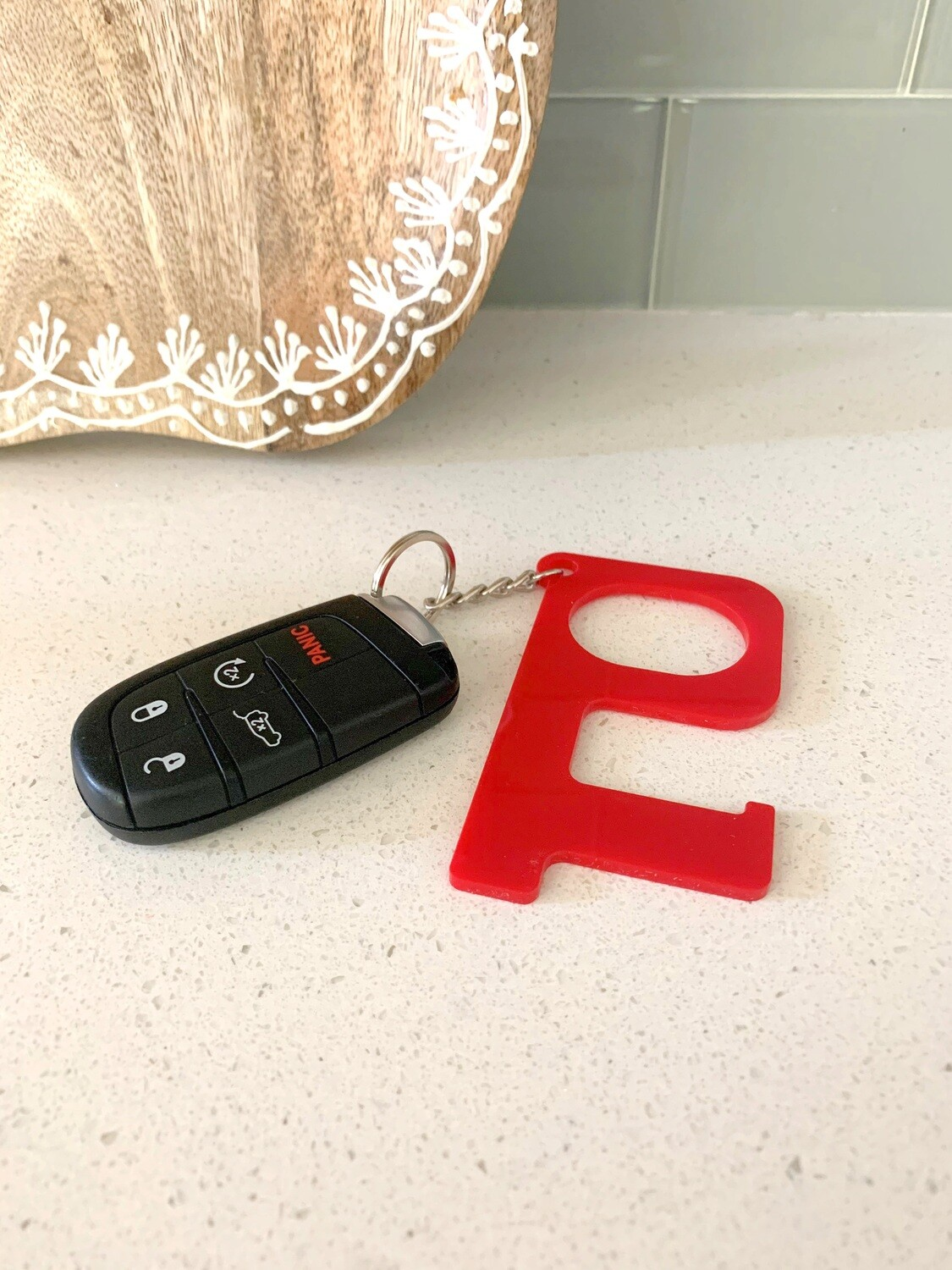 Red Hands-Free Keychain