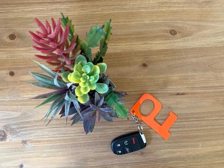 Orange Hands-Free Keychain