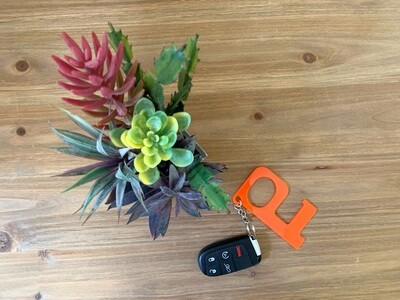 Orange Hands-Free Keychain