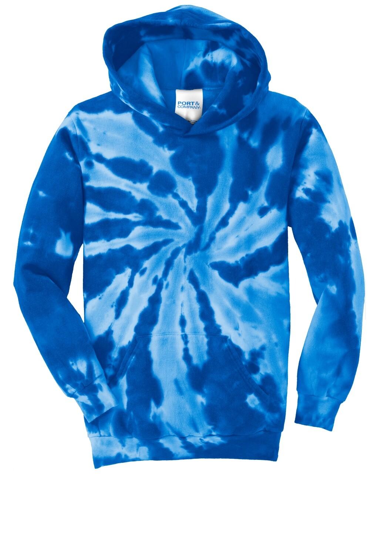 Youth Port & Company Royal Tie-Dye Hooded Sweatshirt - (LPCS)