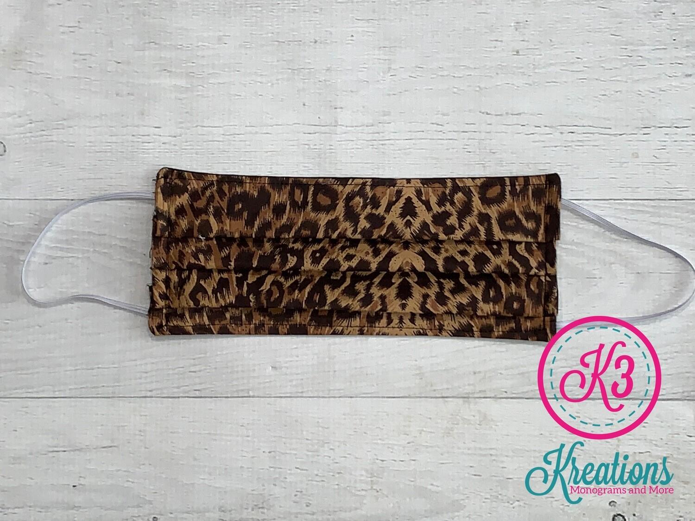 Leopard Print Cotton Fabric Face Mask