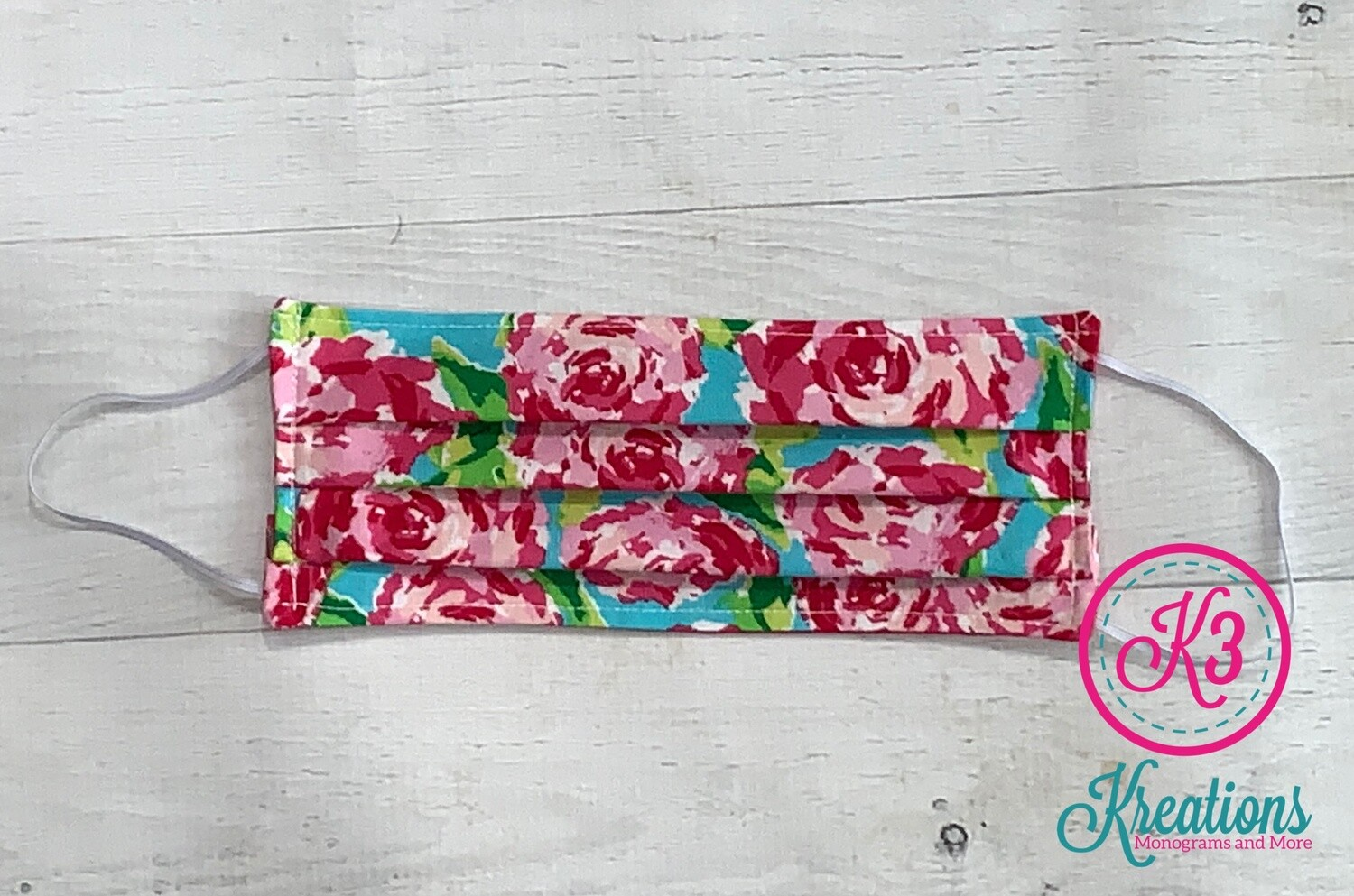 Rosey Cotton Fabric Face Mask