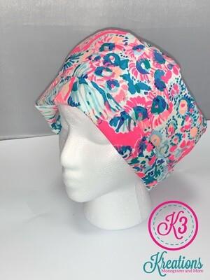 Gypsea Lilly Print Cotton Fabric Scrub Cap