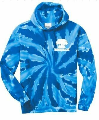 Adult Port & Company Royal Tie-Dye Hooded Sweatshirt -Left Chest - (LPC)