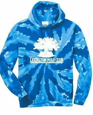 Adult Port & Company Royal Tie-Dye Hooded Sweatshirt - Front Chest Design (LPC)