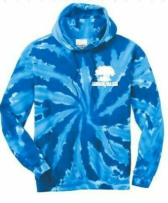 Youth Port & Company Royal Tie-Dye Hooded Sweatshirt - Left Chest - (LPC)