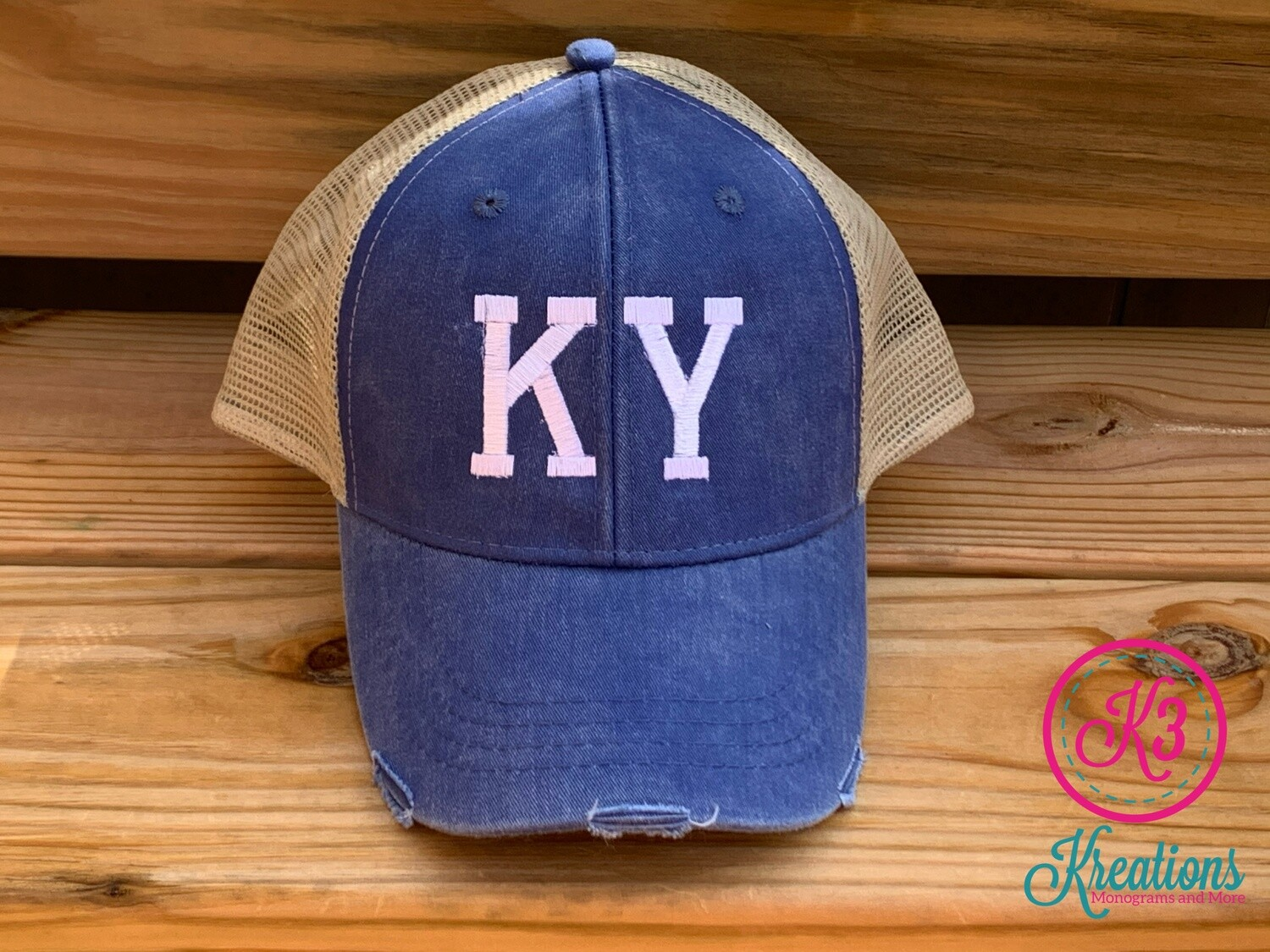 KY Distressed Trucker Hat