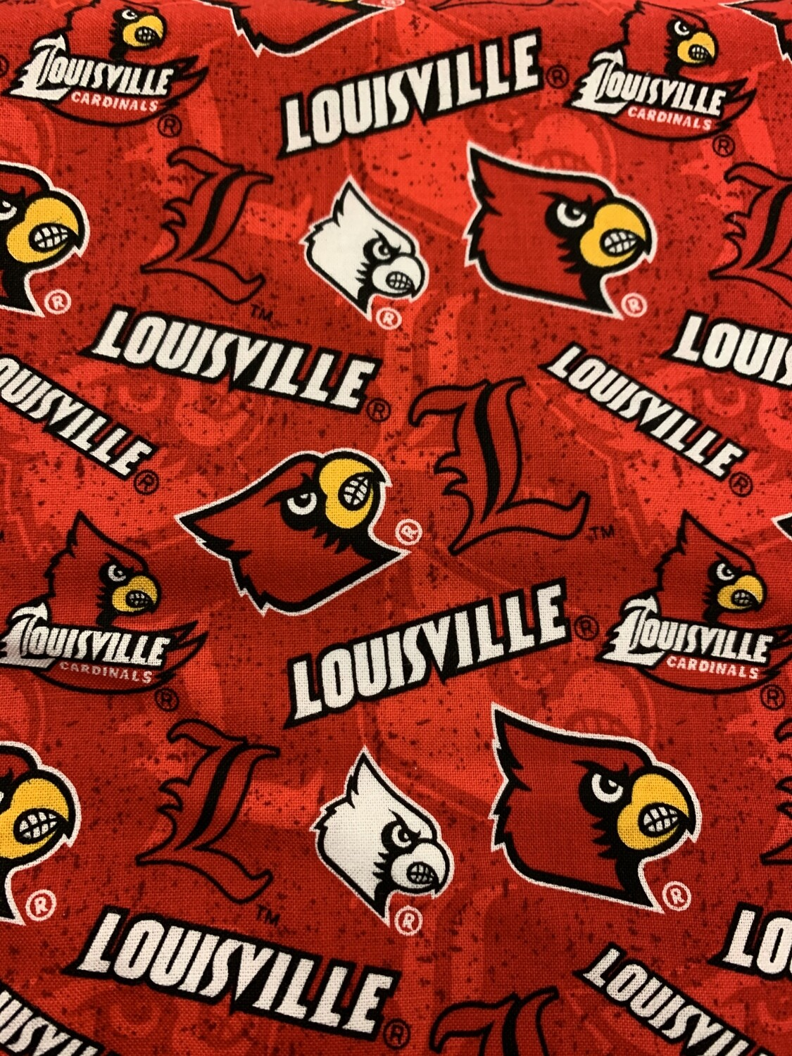Louisville Red Cotton Fabric Face Mask