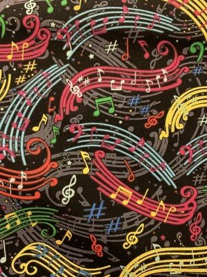 Colorful Music Cotton Fabric Face Mask