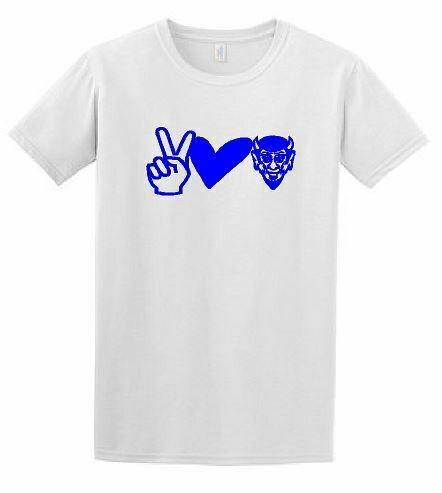Peace Love Devils Short Sleeve T-shirt-White ADULT (HCGG)