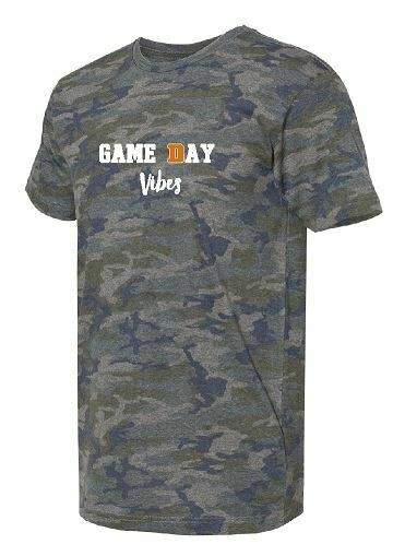 Game Day Vibes Camo T-shirt - UNISEX (FDBS)