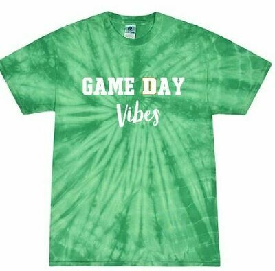Game Day Vibes Tie Dye Short Sleeve - UNISEX (FDBS)
