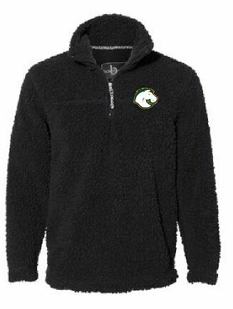 Unisex Black Sherpa Fleece Quarter-Zip Pullover with choice of Douglass Logo - YOUTH and ADULT (FDBS)