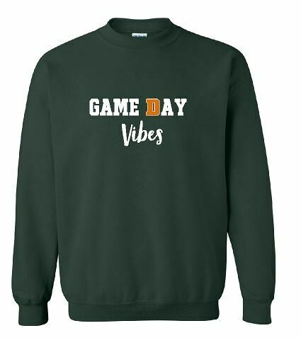 Game Day Vibes Crewneck Sweatshirt - 4 Color Options - Youth and Adult (FDBS)