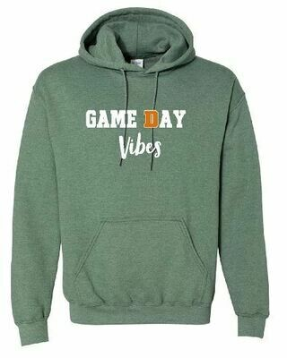 Game Day Vibes Hooded Sweatshirt - 4 Color Options - Youth and Adult (FDBS)