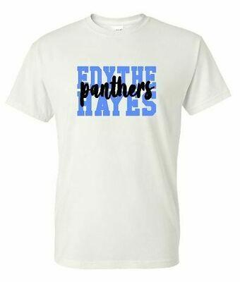 Edythe Hayes Panthers Gildan White Dry Blend T-Shirt